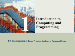 From Problem Analysis to Program Design