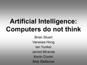 Artificial Intelligence: Computers do not think