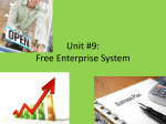 Unit 9--Free Enterprise System