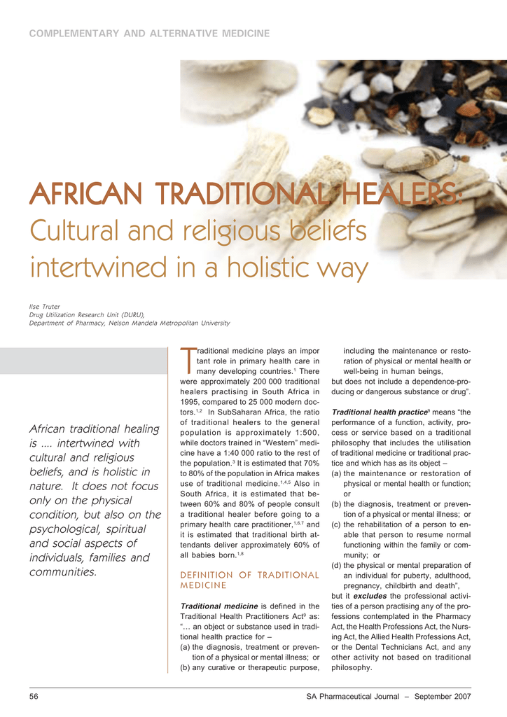 When Cultures Intertwine – The African Way