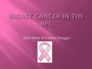 Breast cancer in the NFL