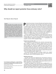 Why should we report posterior fossa emissary veins?