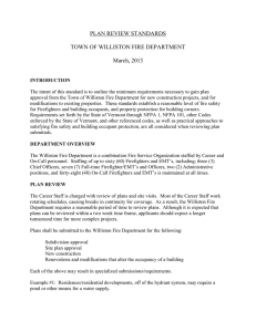 plan review standards - Williston Fire Department