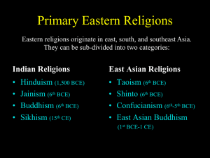 Primary Eastern Religions