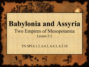 Powerpoint Babylonia and Assyria