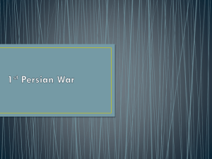 1st Persian War - Culture, Conflict and Civilization