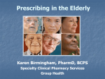 Prescribing in the Elderly - Benton Franklin County Medical Society