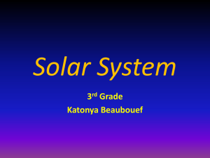 Solar System Powerpoint by Katonya Beaubouef