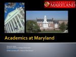 Academics at Maryland Presentation