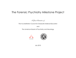 The Forensic Psychiatry Milestone Project