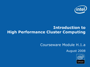 Introduction to High Performance Computing with