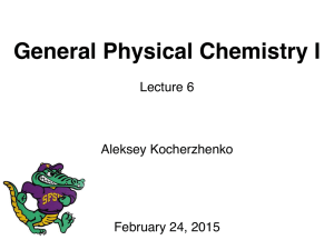 General Physical Chemistry I