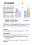 Chapter 26 – Electricity from Chemical Reactions