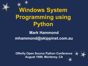 Windows System Programming using Python