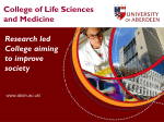Appendix 2: Annual Report from the College of Life Sciences and