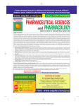 Journal of Pharmaceutical Sciences and Pharmacology