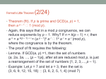 Fermat*s Little Theorem (2/24)