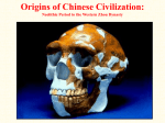 Origins of Chinese Civilization: Neolithic Period to the Western Zhou