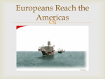 Europeans Reach the Americas