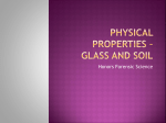 PHYSICAL PROPERTIES * GLASS AND SOIL