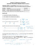 Section 2.5 Measures of Position Quartiles, Percentiles, Standard