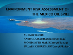 ECOLOGICAL RISK ASSESSMENT OF THE MUMBAI OIL SPILL
