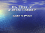Beginning Python - Brown University Computer Science