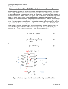 Voltage-controlled Oscillators (VCO), Phase Locked Loop, and