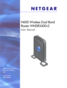 N600 Wireless Dual Band Router WNDR3400v2 User Manual