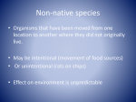 Non-native species