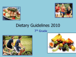 Dietary Guidelines 2010