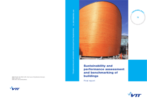 Sustainability and performance assessment and