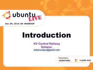 What Is Linux? - Kendriya Vidyalaya Central Railway