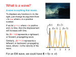2. Waves, the Wave Equation, and Phase Velocity