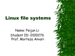 Linux Kernel—File Systems