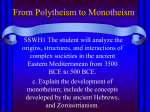 From Polytheism to Monotheism