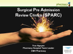 Surgical preadmission review clinics (SPARCS)