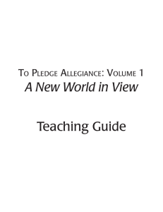 Teaching Guide A New World in View