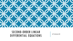 Second-Order Linear Differential Equations