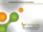 Confidential Investment Presentation Forward