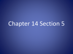 Chapter 14 Section 5