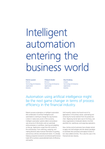 Intelligent automation entering the business world