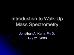 Introduction to Organic Mass Spectrometry