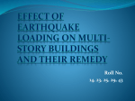 effect of earthquake loading on multi