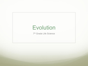 Evolution - Science with Ms. Peralez
