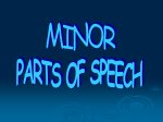 parts of speech - High Point University
