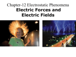 Electric charges, Coulomb`s law, and Electric Field
