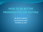 STEPS IN PREPARING YOUR UNIT UNDER TEST FOR ESD
