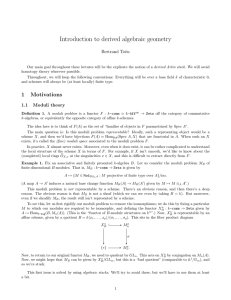 Introduction to derived algebraic geometry