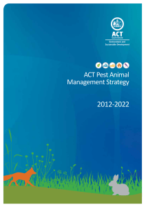 ACT Pest Animal Management Strategy 2012-2022